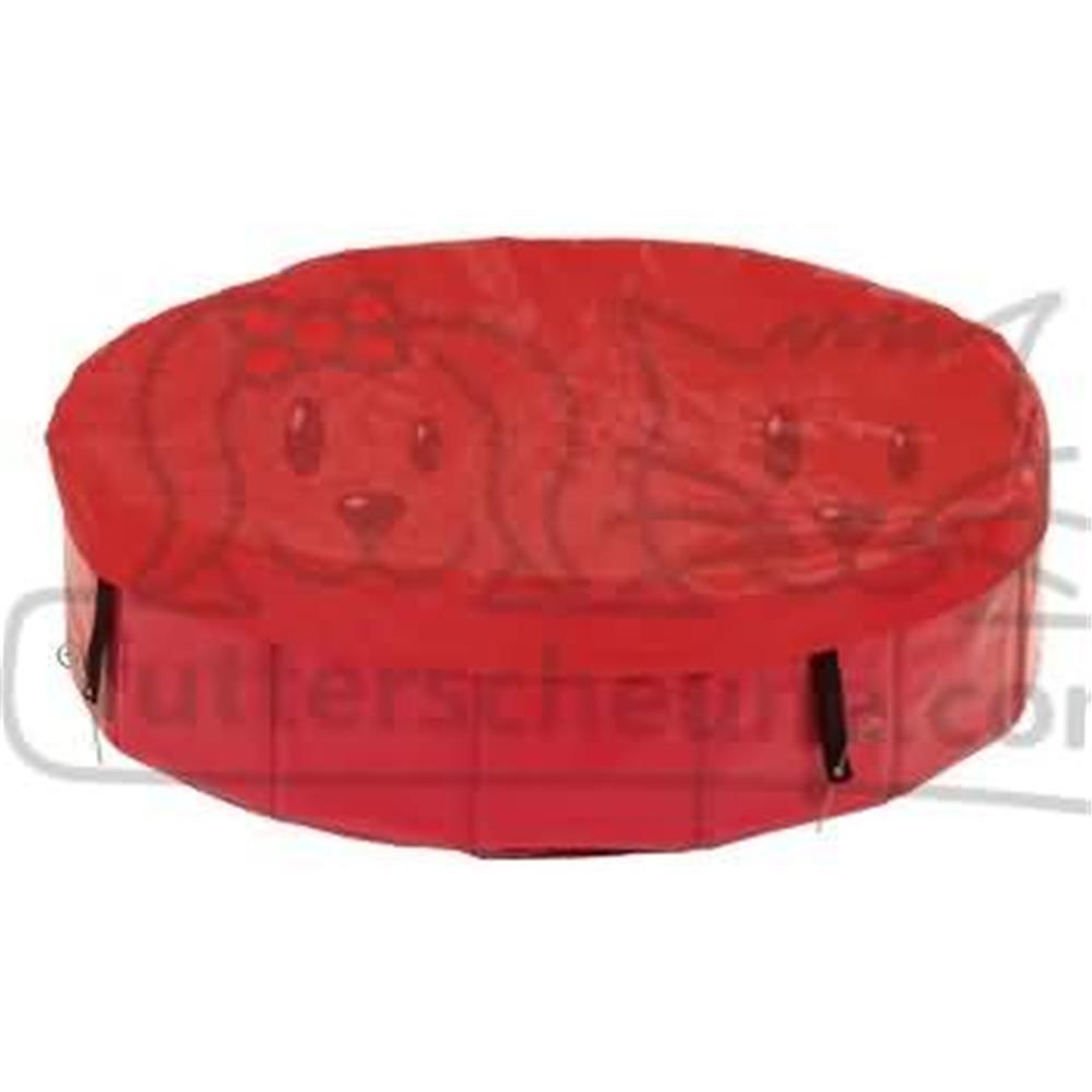 Abdeckung für Hundepool DOGGY POOL COVER rot Klein: für ø 80cm