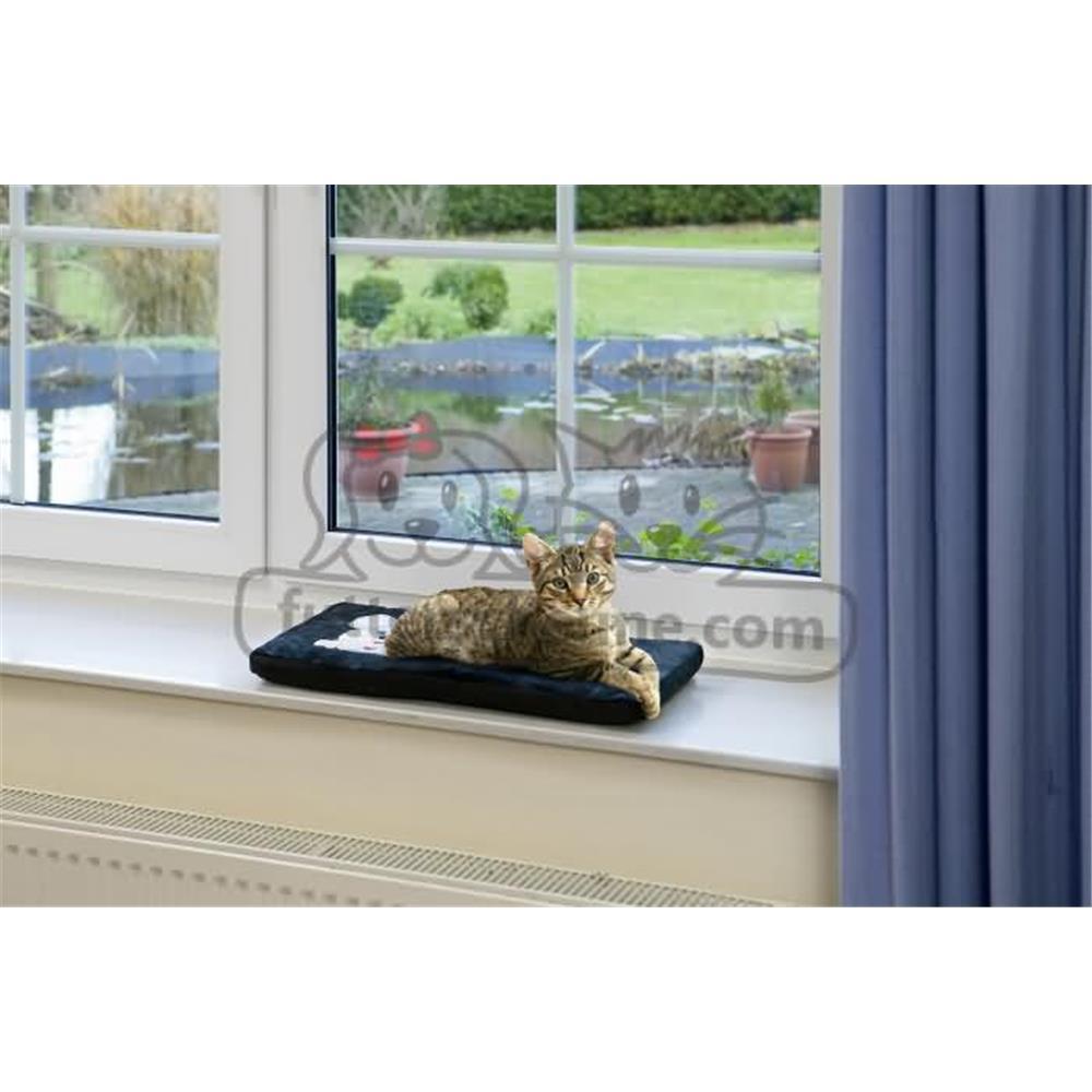 Fensterbank Auflage KITTY COSY für Katzen SCHWARZ
