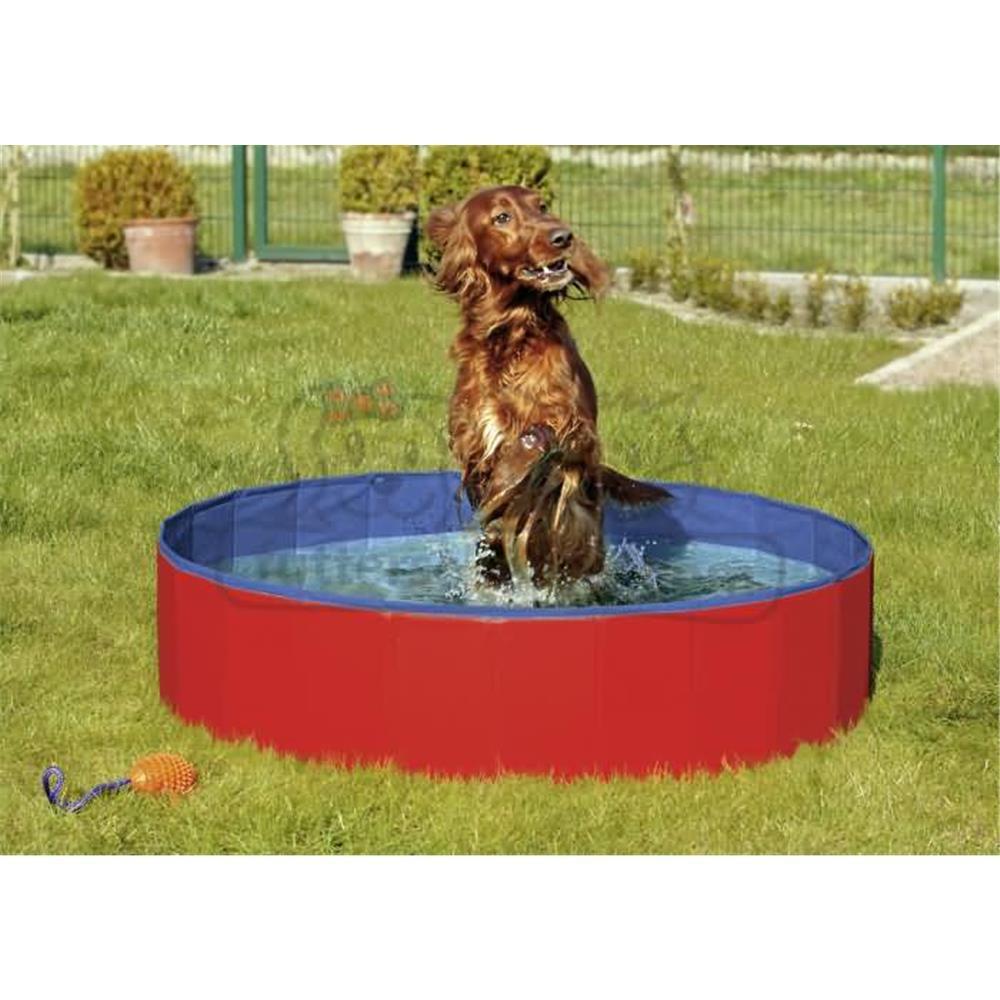 Hundepool DOGGY POOL blau/rot verschiedene Größen für Hunde