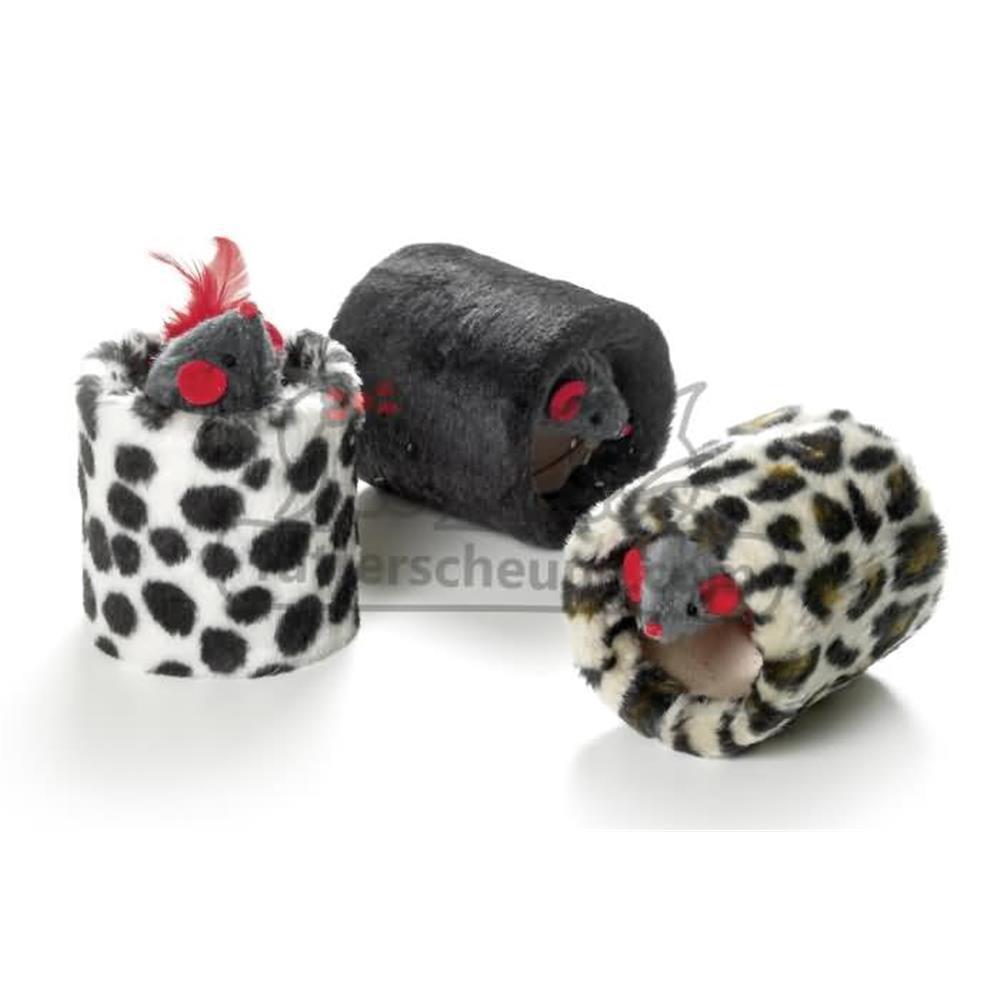 Spielzeug KITTY JOY Spielrolle Plüsch für Katzen