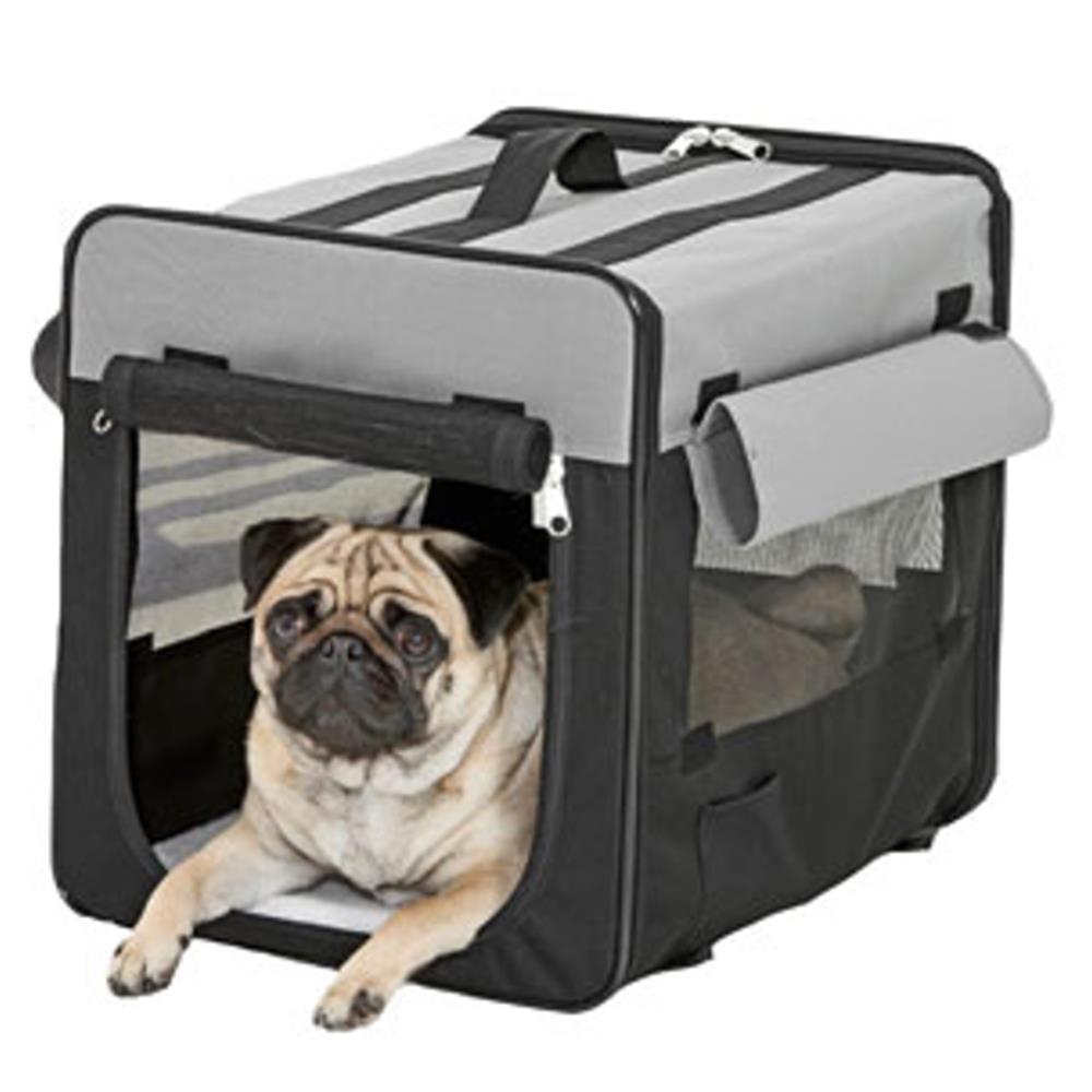 karlie transportbox smart top plus schwarz grau f r hunde. Black Bedroom Furniture Sets. Home Design Ideas