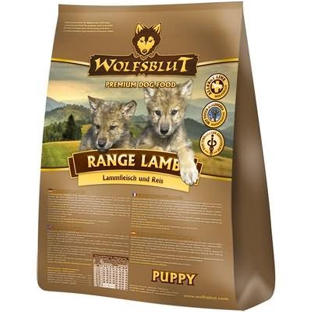 wolfsblut trockenfutter range lamb puppy lamm reis f r. Black Bedroom Furniture Sets. Home Design Ideas