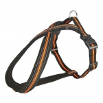 TRIXIE Brustgeschirr TOUREN-GESCHIRR schwarz/orange f�r Hunde