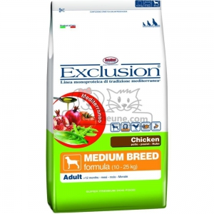 DORADO Futter MEDIUM BREED CHICKEN Exclusion Mediterraneo Huhn für Hunde