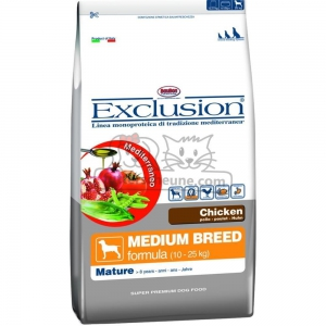 DORADO Seniorfutter MEDIUM BREED CHICKEN Exclusion Mediterraneo Huhn 12,5kg