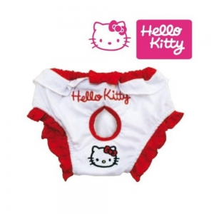 HELLO KITTY Hygiene-Slip HYGIENIC PANTS für Hündinnen WHITE/RED