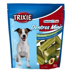 TRIXIE Kauartikel DENTA FUN Dentros Mini mit Avocado 140g...