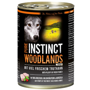 PURE INSTINCT Nassfutter JUNIOR WOODLANDS Truthahn Dose für Hunde