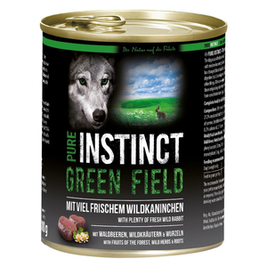 PURE INSTINCT Nassfutter GREEN FIELD Wildkaninchen Dose für Hunde