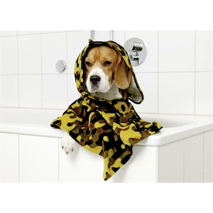 KARLIE Frotteeumhang PERFECT CARE BADEPONCHO Camouflage für Hunde