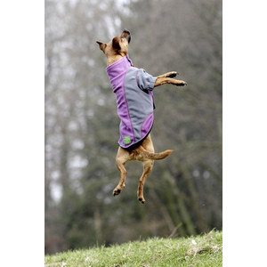 KARLIE TOUCHDOG Hundemantel OUTDOOR FLEECE grün-grau Gr. XL (47cm-62cm-38cm)