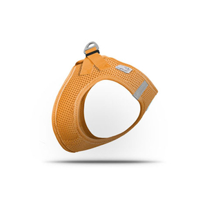 CURLI Brustgeschirr Plush Vest AIR-MESH orange für Hunde