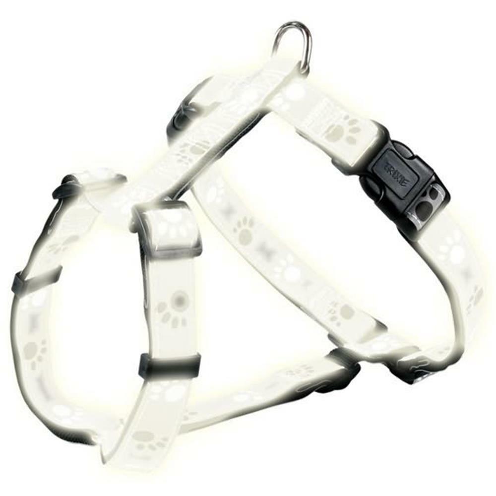 trixie brustgeschirr silver reflect h geschirr grau mit pfoten f. Black Bedroom Furniture Sets. Home Design Ideas
