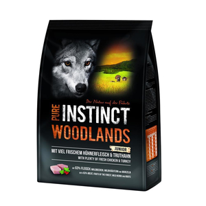 SAGAFLOR Trockenfutter PURE INSTINCT Woodlands JUNIOR Huhn und Truthahn 1,0kg