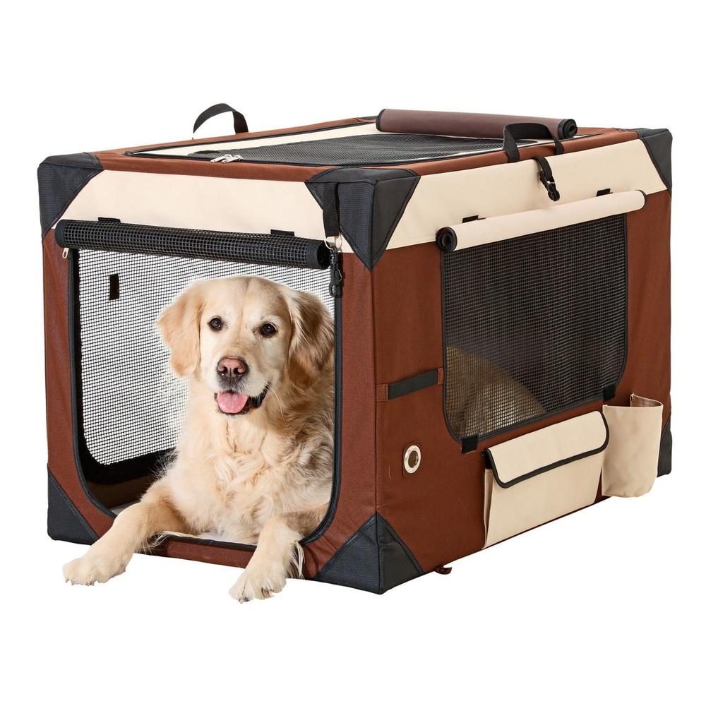 karlie transportbox smart top deluxe beige braun f r hunde. Black Bedroom Furniture Sets. Home Design Ideas
